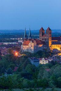 Schloss & Kirche St.Servatius am AbendSachsen-Anhalt