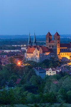 Schloss & Kirche St.Servatius am AbendSachsen-Anhalt van Patrice von Collani