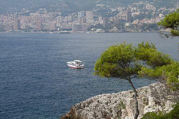 uitzicht op zee bij Roquebrune (tussen Menton en Monaco) van