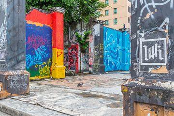 Kunst auf der Straße in Kota Kinabalu von didier de borle