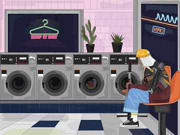 cyber punk laundromat von Sfez