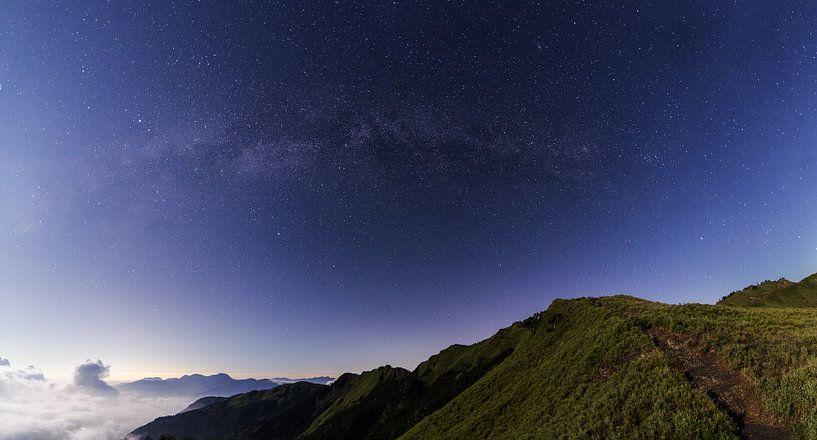 Melkweg gezien vanaf Hehuan in Taiwan van Jos Pannekoek