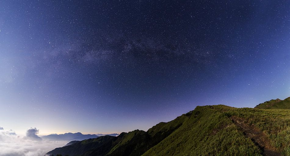 Melkweg gezien vanaf Hehuan in Taiwan