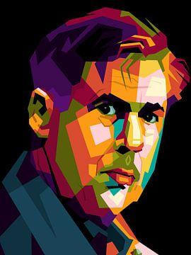 Carlo Ancelotti in pop-art van miru arts