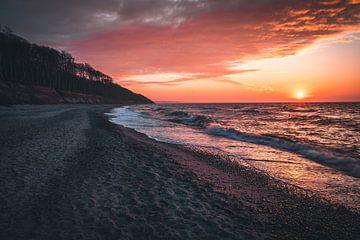 Sonnenuntergang an der Ostee von Arnold Maisner