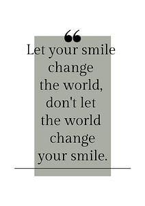 """Affiche """"Laissez votre sourire"""" dans toutes les couleurs possibles !"""