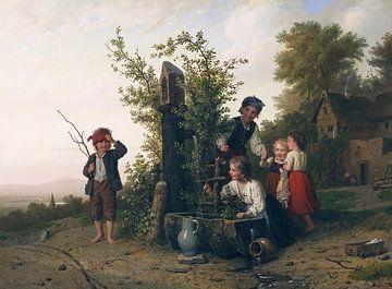 Das Blindekuhspiel, JOHANN GEORG MEYER VON BREMEN, 1868
