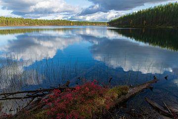 Weerspiegelend meer van Willemke de Bruin