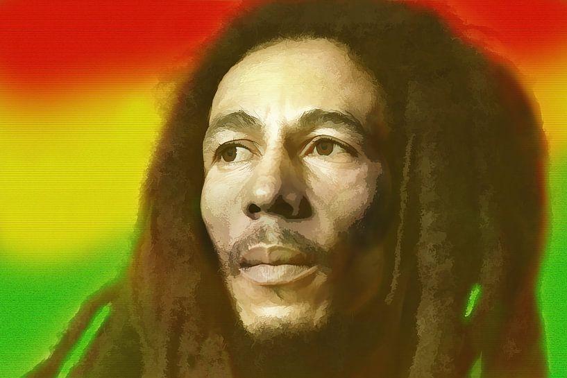 Bob Marley, König des Reggae. von Gert Hilbink