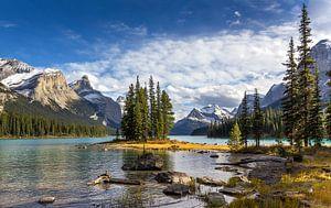 Spirit Island, Maligne Lake, Canada van Adelheid Smitt
