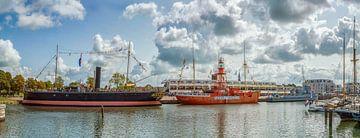 Drie boten op een rij sur John van Weenen