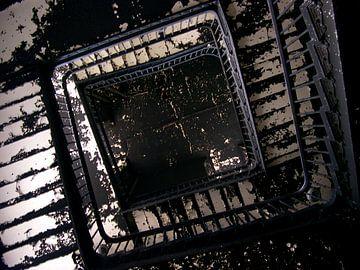 Burned staircase von Bram Giesen