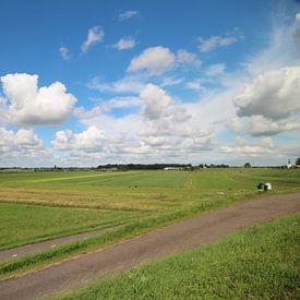 Breed uitzicht over de zuidplaspolder in Moordrecht van André Muller