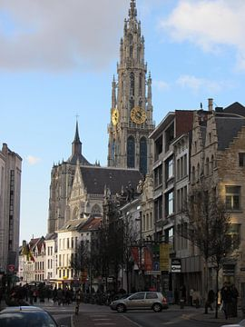 stadsgezicht Antwerpen van Nicky`s Prints
