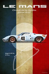Ford GT40 Gulf in Le Mans