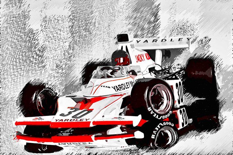 Yardley McLaren M23 driven by Jacky Ickx van Jean-Louis Glineur alias DeVerviers