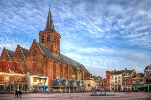 Hof en St. Joriskerk historisch Amersfoort van Watze D. de Haan