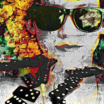 Playing with dominos van PictureWork - Digital artist