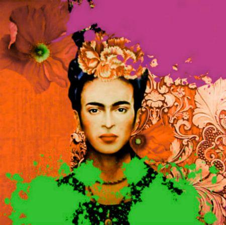 Frida Kahlo Splash Pop Art PUR 1
