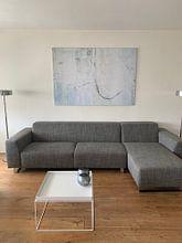 Photo de nos clients: Abstrait de mur en blanc - 2 sur Hans Kwaspen, sur toile