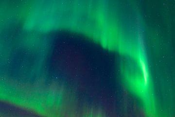 Lumières nordiques au-dessus des îles de Lofoten en Norvège sur Sjoerd van der Wal