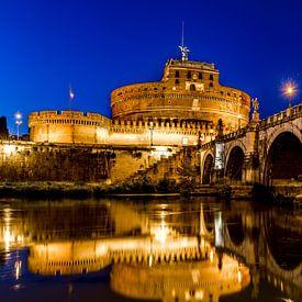 Engelenburcht in Rome bij avondlicht van Marco Schep