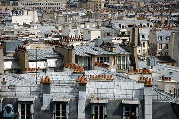 Daklandschap in Parijs sur Sean Vos