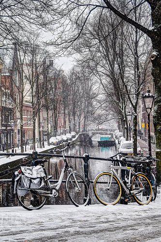 Amsterdam Winter Oudezijds Achterburgwal