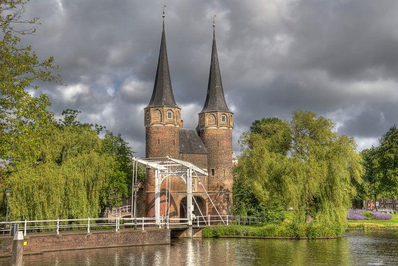 Oostpoort in Delft van Jan Kranendonk