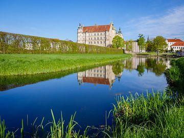 Kasteel Güstrow met vijver in Mecklenburg-Vorpommern van Animaflora PicsStock