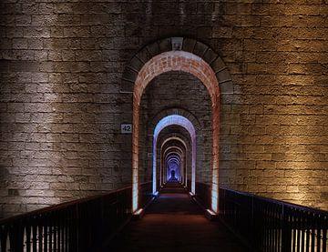 Eindeloos aantal poorten in viaduct van Chaumont, Frankrijk van Atelier Liesjes