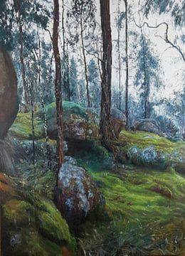 Haut dans les montagnes, la terre et la nature sur KB Prints