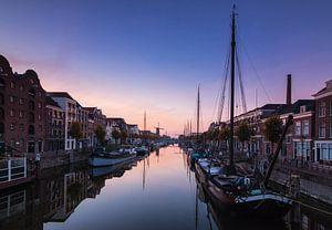 Delfshaven bij zonsopkomst van