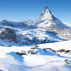 Ski Matterhorn Zermatt Switzerland von Menno Boermans