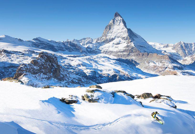 Ski Matterhorn Zermatt Zwitserland van Menno Boermans