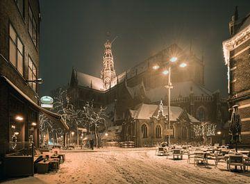Haarlem: De St. Bavo vanuit de Damstraat. von Olaf Kramer