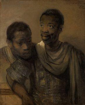 Zwei afrikanische Männer, Rembrandt van Rijn.