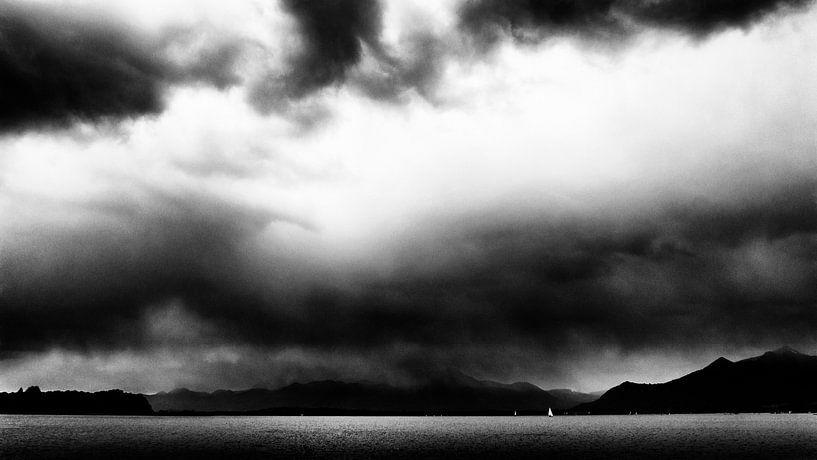 Wolken über dem Chiemsee von Heiko Westphalen