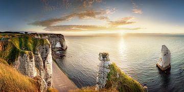Kreidefelsen von Etretat in der Normandie in Frankreich von Fine Art Fotografie