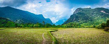 Wanderweg durch die Landschaft von Nord-Laos von Rietje Bulthuis