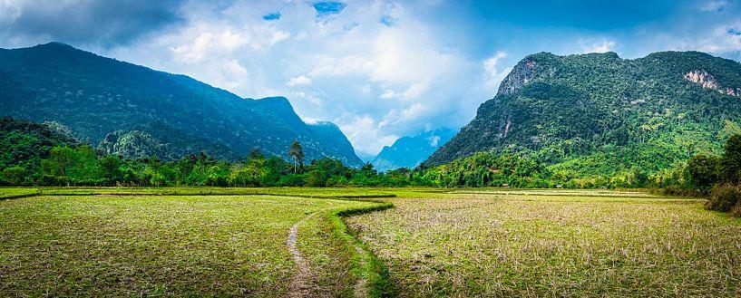 Wandelpad over het platteland van Noord Laos van Rietje Bulthuis