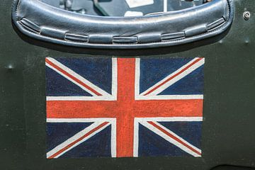 Britische Union Jack Flagge auf der Seite eines alten 1930er Bentley. von Sjoerd van der Wal