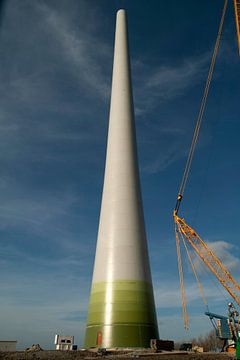 Windmühle im Bau von