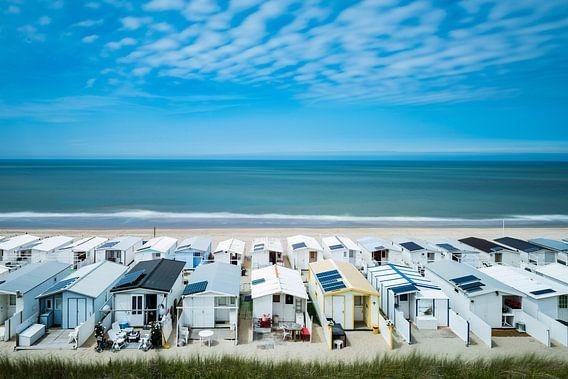 Strandhuisjes in Zandvoort van Renzo Gerritsen