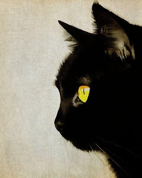 Portret van een kat van Jan Keteleer
