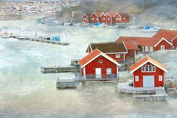 Fischerhäuser in Smögen von Heike Hultsch