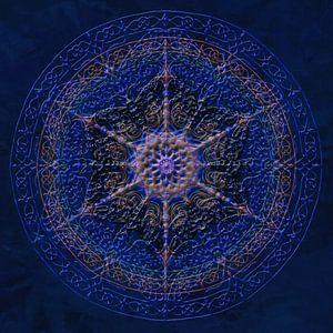 Mandala, koningsblauw van
