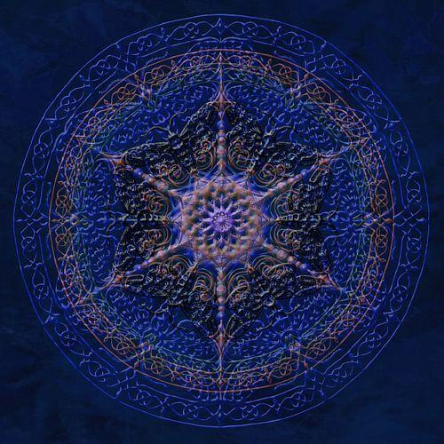 Mandala, koningsblauw
