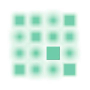 Gefocuste serie vierkanten mint van Jörg Hausmann
