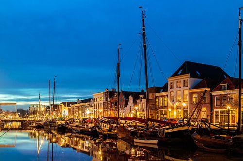 De oude haven in Zwolle van